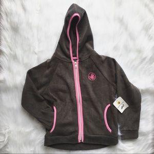 ☀️3/$25 Body Glove Girls Grey Pink Hoodie